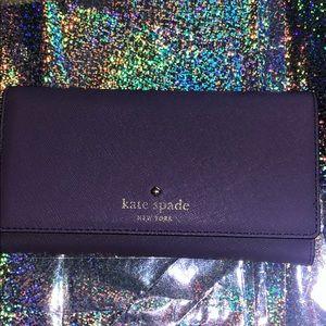 Kate Spade Wallet Crisp Lilac Tri-Fold